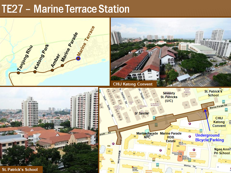 Which properties on the east coast to benefit from new mrt for 16 marine terrace