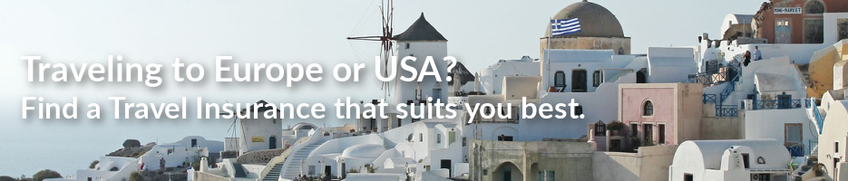Traveling to Europe or USA? Find a Travel Insurance that suits you best.
