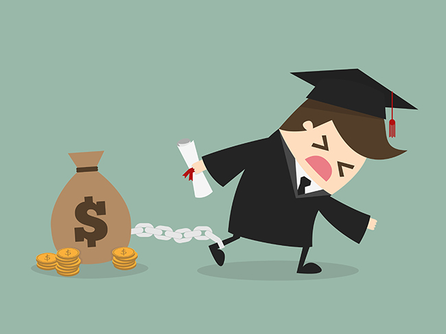 Paying off your education loans should be 1 of the 5 money moves