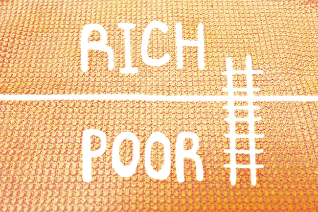Capitalism creates a gap between the rich and the poor