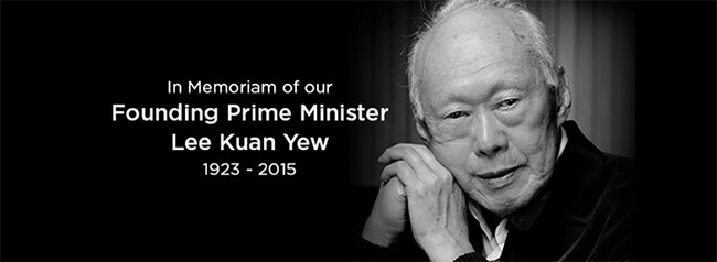 Top Image - #RememberingLKY, the founding Prime Minister of Singapore