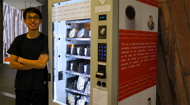Article Image - Hans Chew's vending machine houses some 360 ceramic art pieces