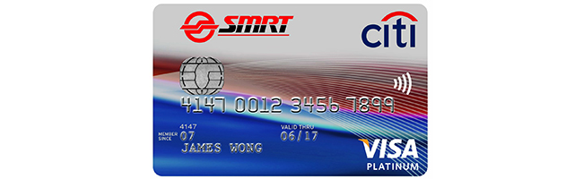 Article Image - Singapore's Best Credit Cards for Groceries - Citibank SMRT Platinum Visa