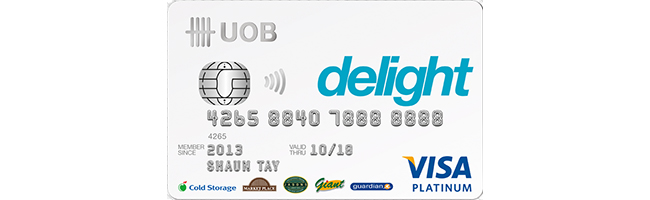 Article Image - Singapore's Best Credit Cards for Groceries - UOB Delight Credit Card