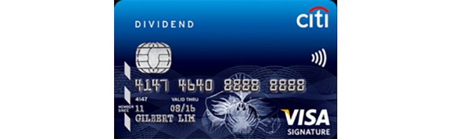 Article Image - Singapore's Best Credit Cards for Petrol - Citibank DIVIDEND Card