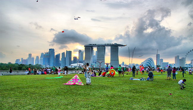 Article Image - Kite flying at Marina Barrage