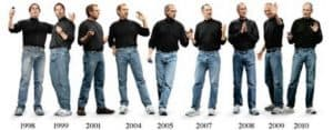 Steve Jobs and his trademark turtleneck