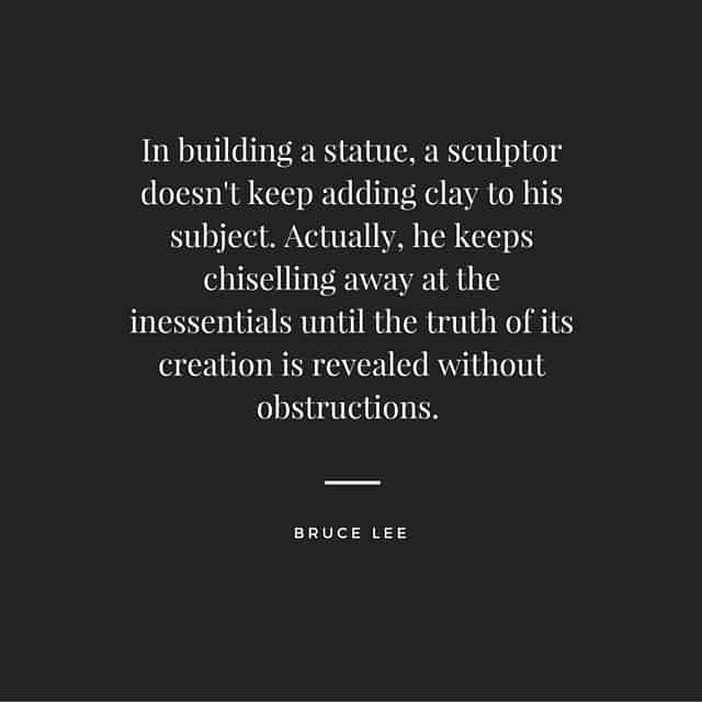 Bruce Lee Sculptot Quote