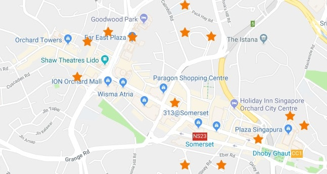 24 Cheapest Places to Park in Orchard For Smart Drivers (Map)