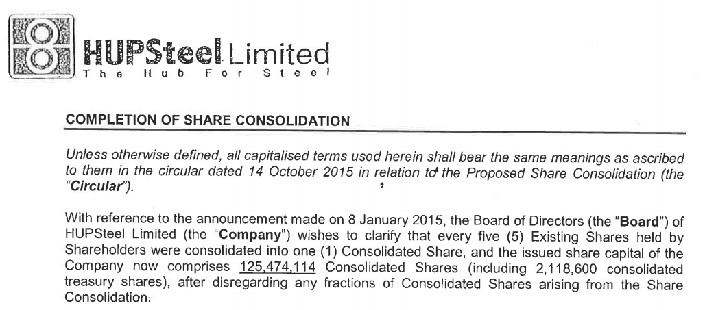 What Is A Share Consolidation