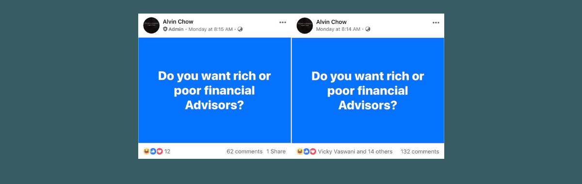 do you want rich or poor financial advisers?